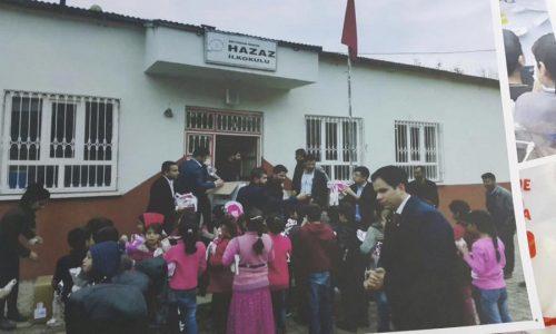 TYSD Genç Yardımsevenler Topluluğundan Adıyaman Hazaz İlkokulu Ziyareti