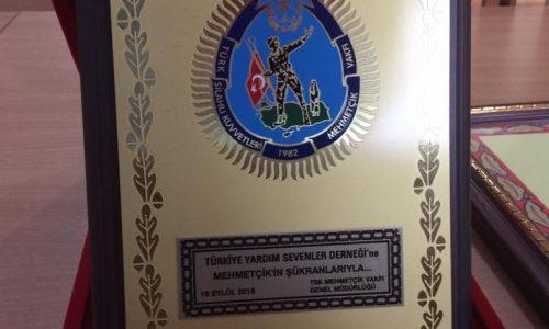 Mehmetçik Vakfı ve Türk Polis Teşkilatını Güçlendirme Vakfına Derneğimizden Bağış