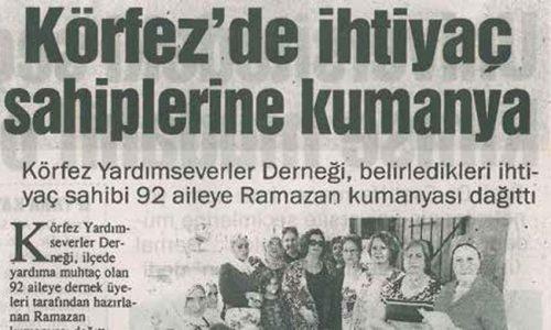 Körfez TYSD Ramazan Kumanyası