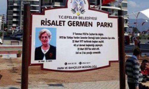 """TYSD Aydın Şubesinden """"Risalet GERMEN Parkı"""" Açılışı"""