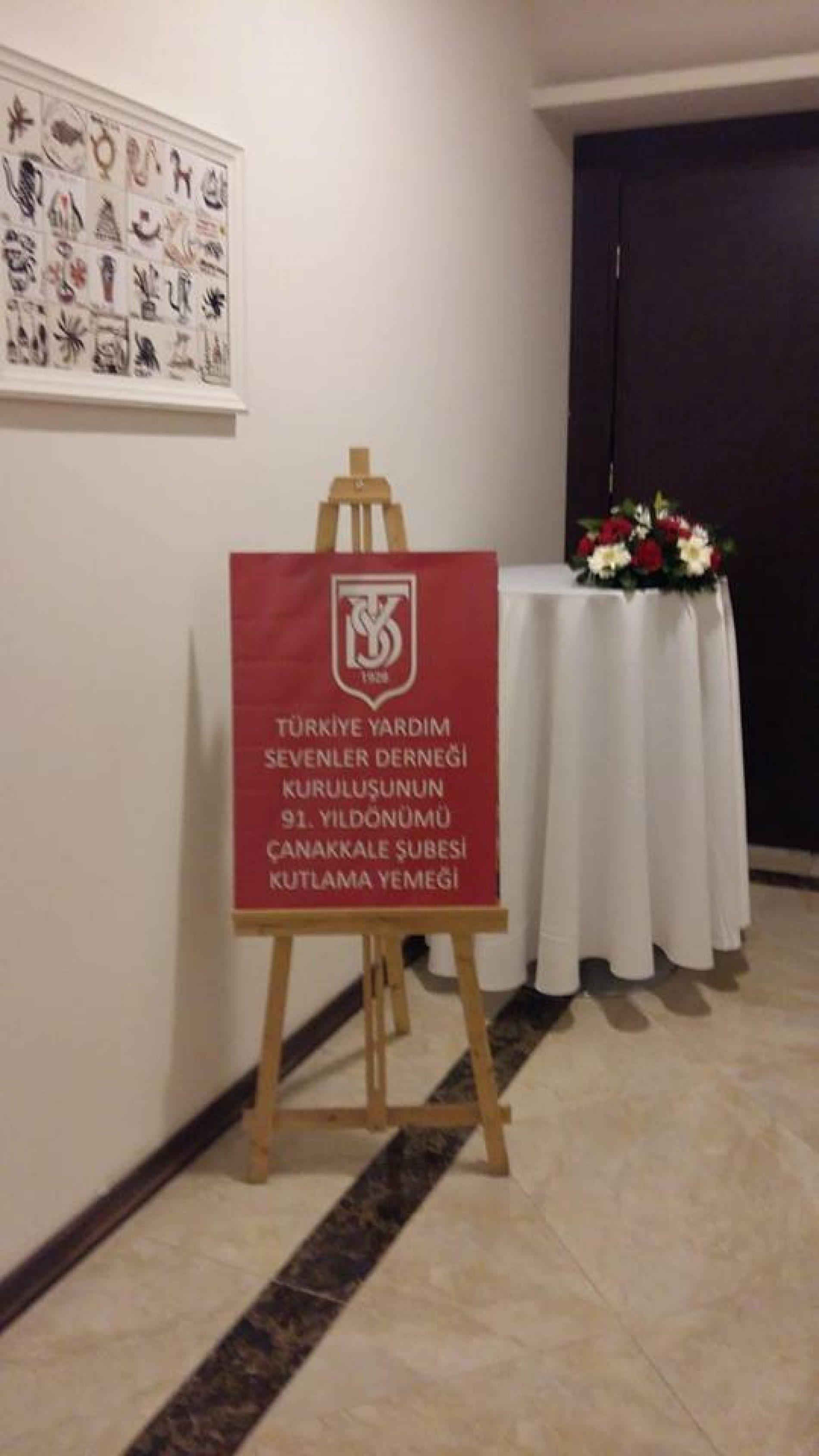 TYSD Çanakkale Şubesinin 91. Kuruluş Yılı Kutlaması