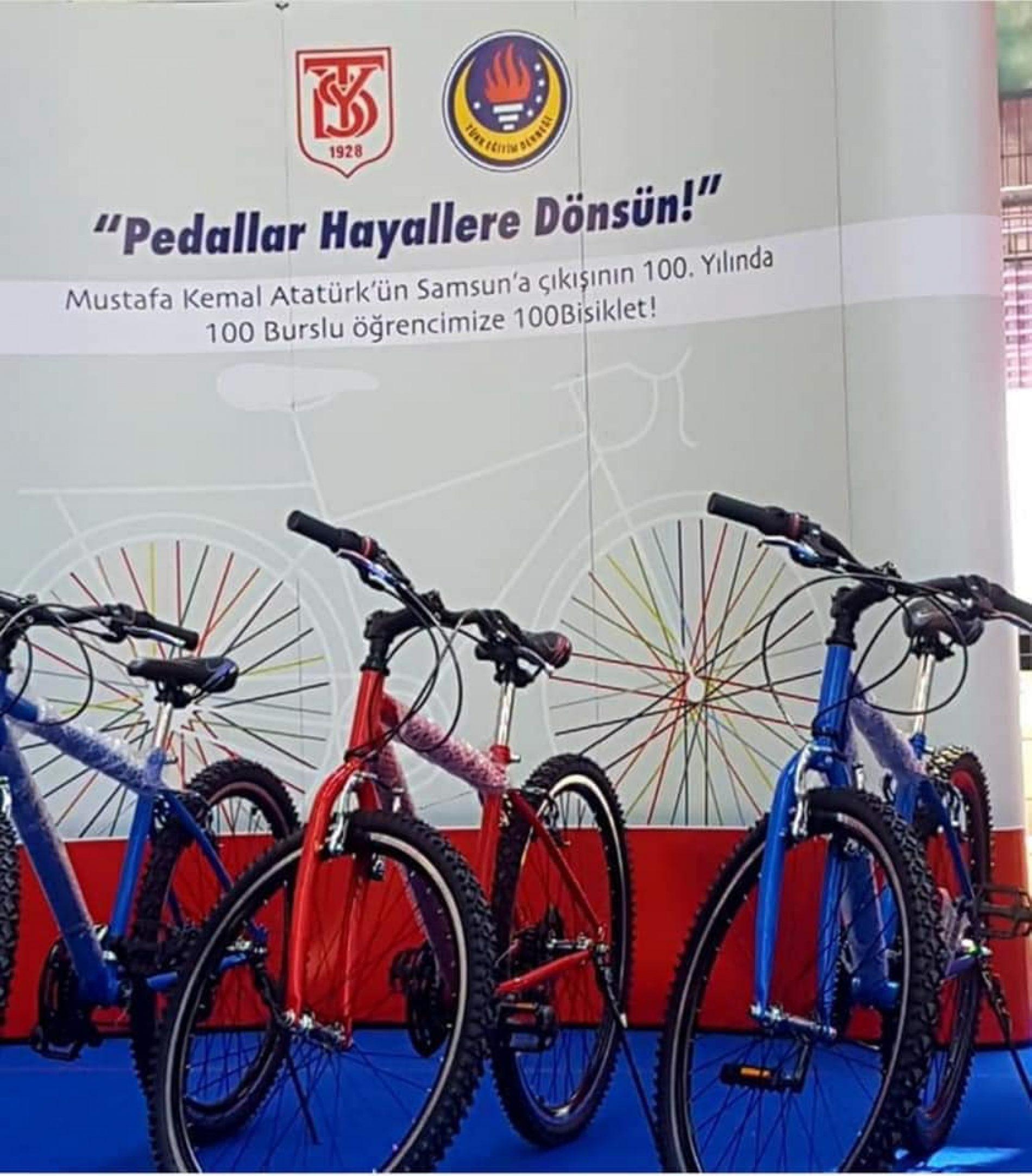 TYSD Genel Merkezinden '19 MAYIS 1919'un 💯 üncü yılında 100 bisiklet' Projesi