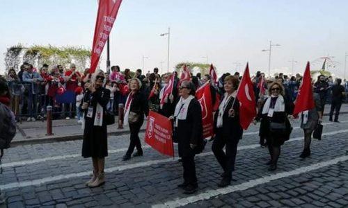 TYSD İzmir Şubemizin Cumhuriyet Meydanında Kortej Yürüyüşü…