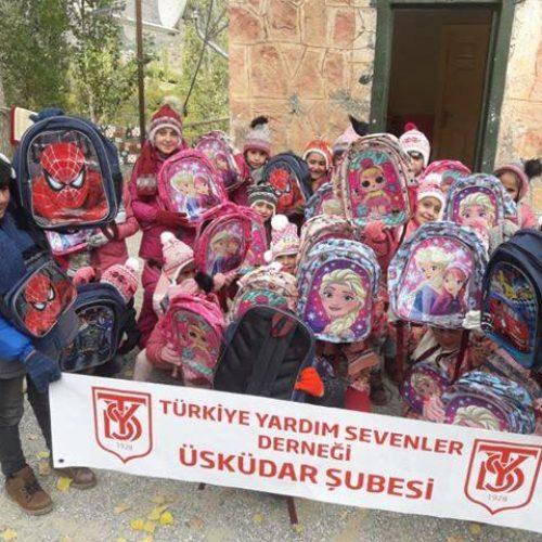 TYSD Üsküdar Şubemizden İki İlkokula Gönderilen Hediyeler