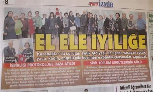 """TYSD İzmir Şubemizin """"İyilik Atölyeleri"""" Projesi"""
