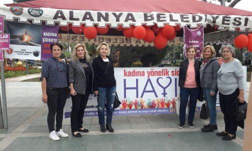 """TYSD Alanya Şubemiz """"Kadına Şiddete Hayır"""" Etkinliğinde"""