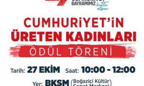 """TYSD Sarıyer Şubemizin Başkanına """"Cumhuriyet'in Üreten Kadınları"""" Ödülü Takdimi"""