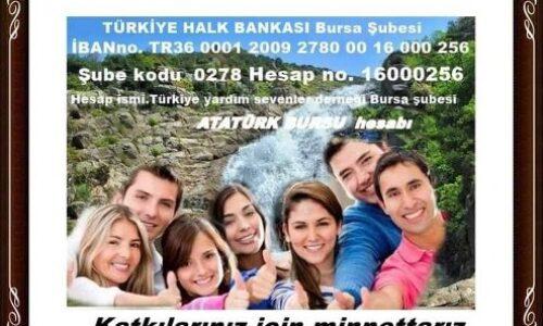 TYSD Bursa Şubemize Anlamlı Atatürk Eğitim Bursu Bağışı