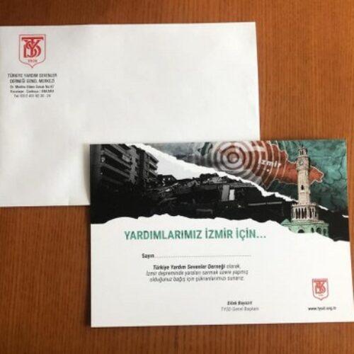 TYSD Genel Merkezimizin Teşekkür Kartları