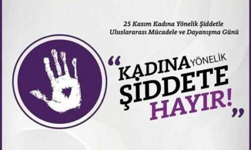 TYSD Genel Merkezi ve 132 Şubemizin Kadına Şiddetle Mücadele Günü Mesajı