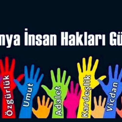 TYSD Genel Merkez ve 132 Şubemizin 10 Aralık Dünya İnsan Hakları Günü Mesajı