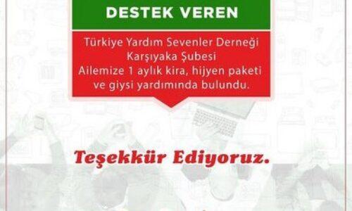 TYSD Karşıyaka Şubemizin Giysi ve Hijyen Paketi Yardımı
