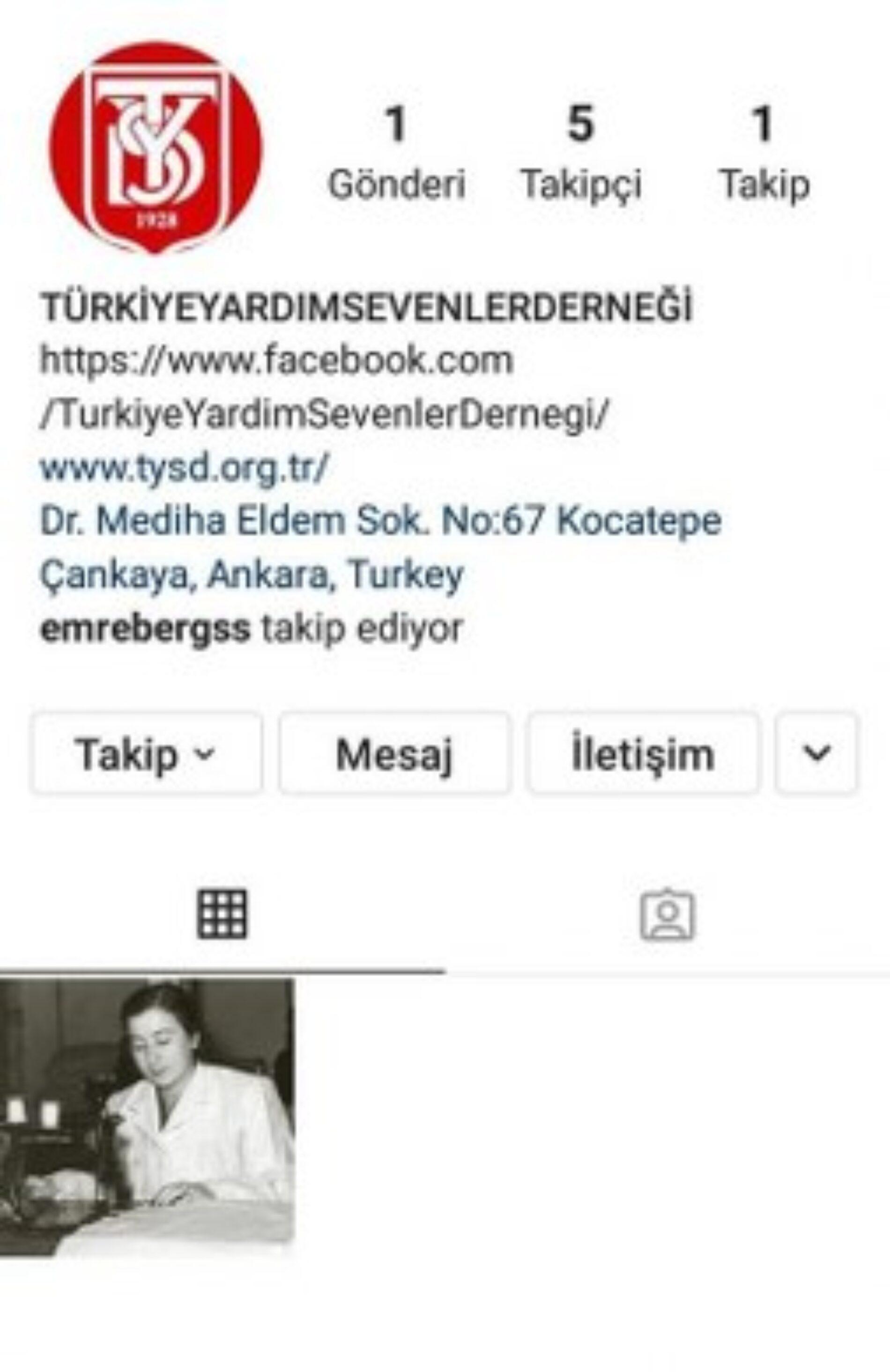 TYSD Genel Merkezimiz Instagram Sosyal Medya Hesabında