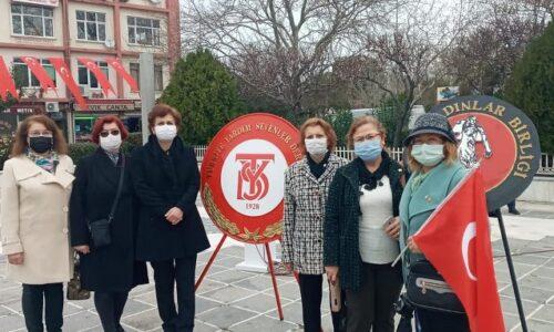 TYSD Çanakkale Şubemiz Ulu Önder Mustafa Kemal Atatürk ve Tüm Kahraman Askerlerimizi Minnetle Andı