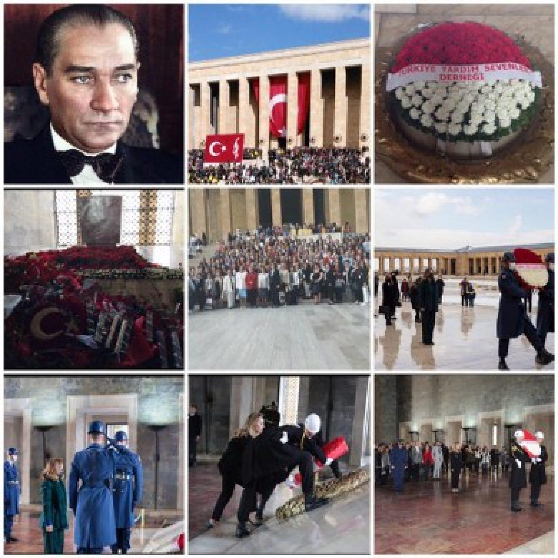 TYSD Genel Merkezi ve 132 Şubemiz Gazi Mustafa Kemal Atatürk 'ü Özlemle Andı