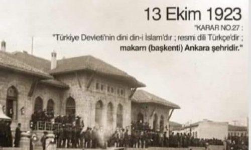 TYSD Genel Merkezi ve 132 Şubemiz Ankara'mızın Başkent Oluşunun 98. Yılını Kutlar