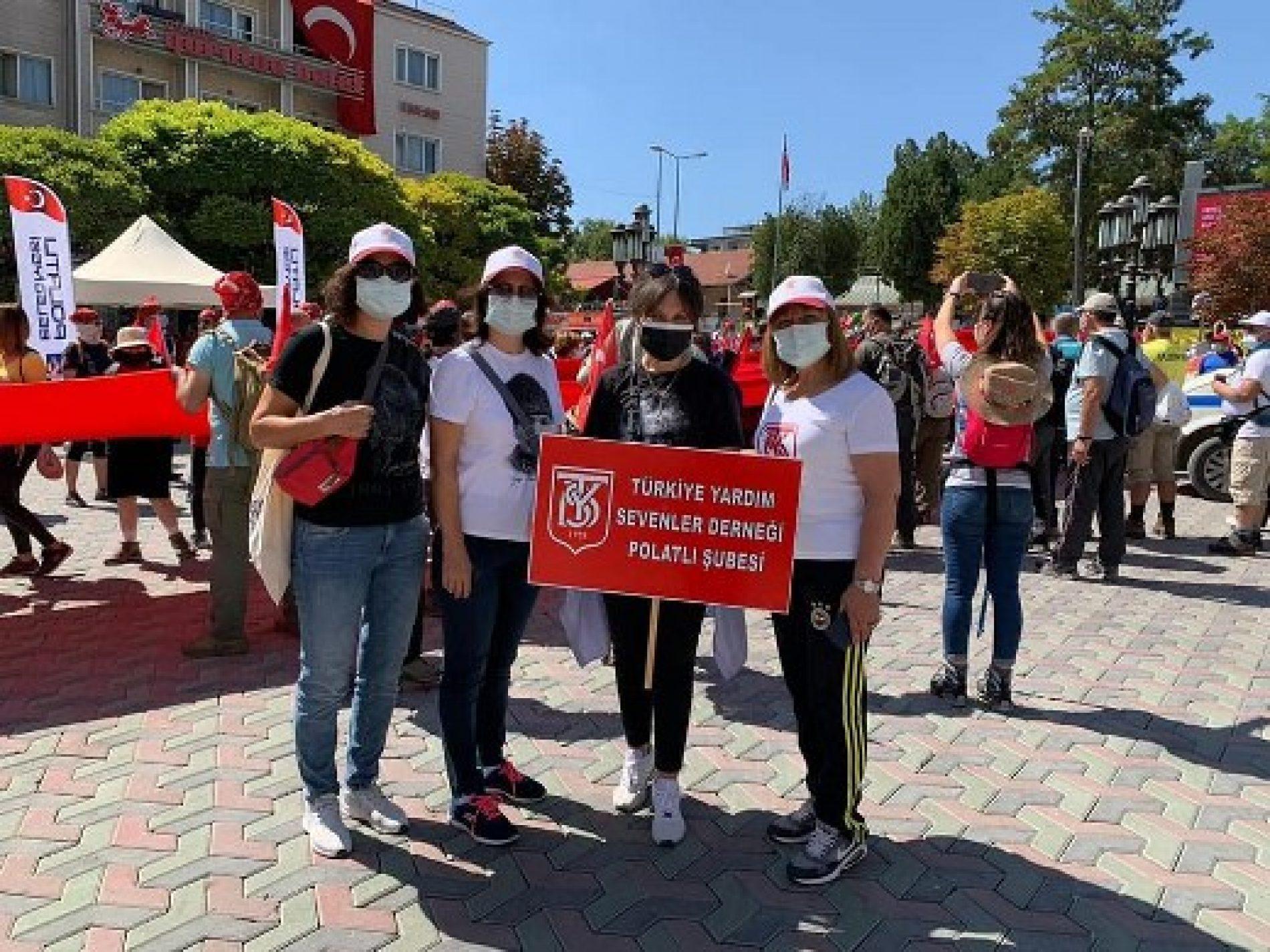 TYSD Polatlı Şubemiz Diriliş Yolu Yürüyüş Etkinliğine Katılmıştır